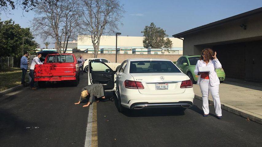 Lady Gaga nach ihrer bestandenen Fahrprüfung