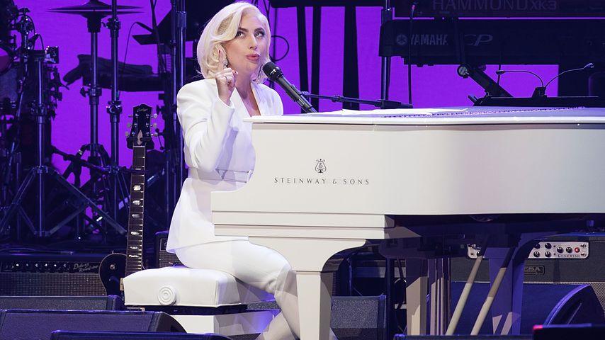 Lady GaGa bei einem Konzert für die Hurricaneopfer in Houston