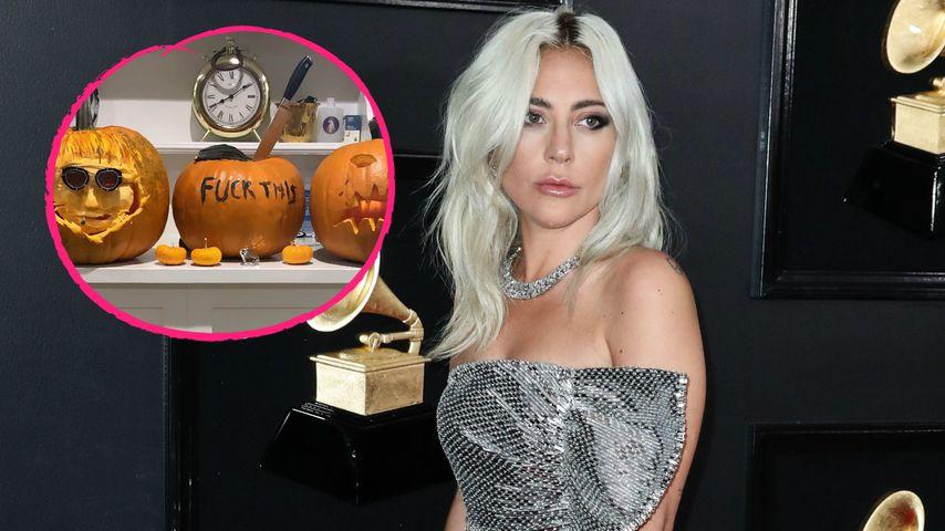 Trennungsfrust? Lady Gaga schnitzt wütende Halloweenkürbisse