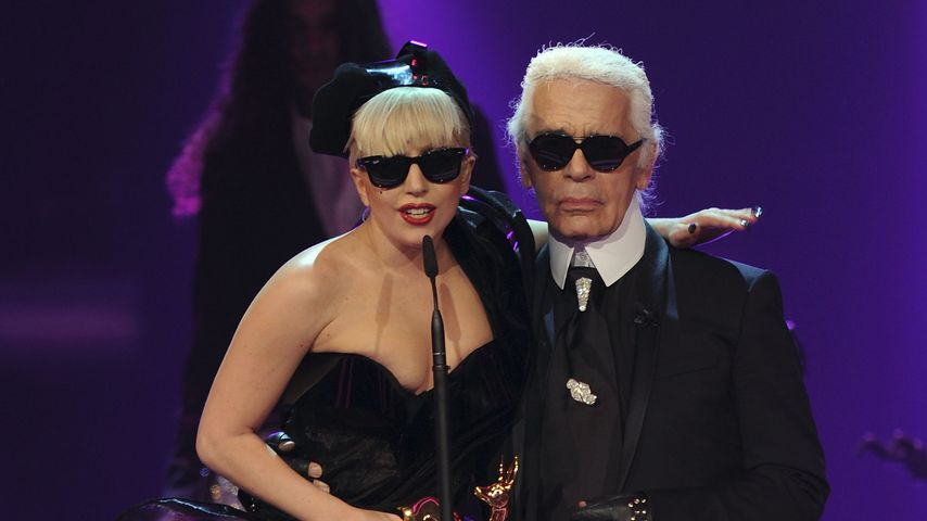 Lady GaGa und Karl Lagerfeld