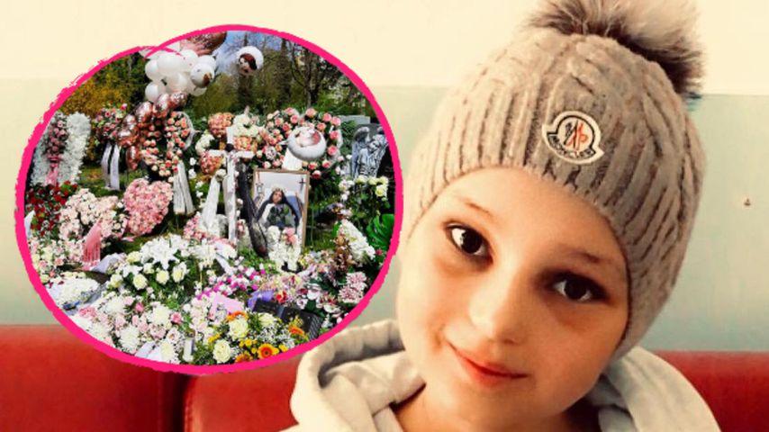 Mit Blumenmeer: Webstar Lana Sander (†12) wurde beerdigt