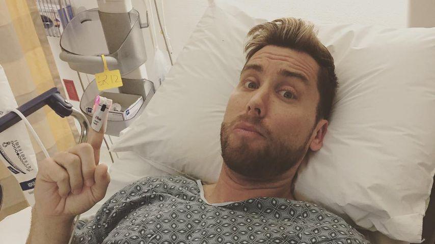 Nach Not-OP: Lance Bass scherzt im Krankenhausbett