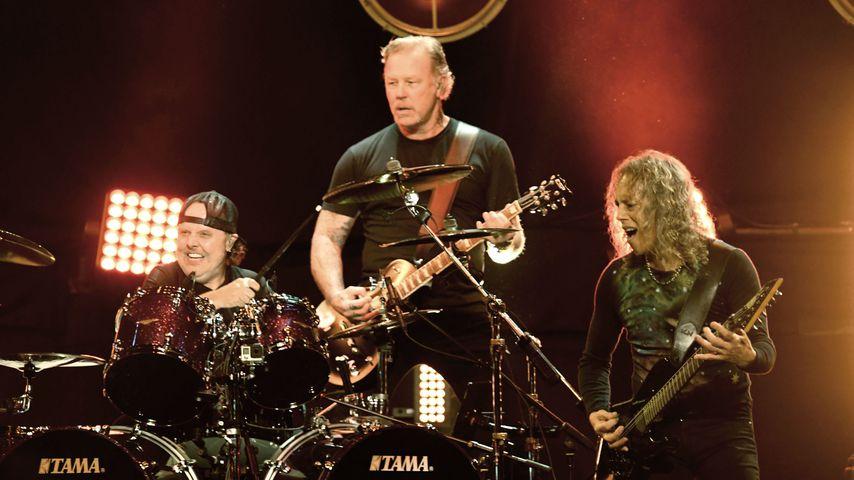 Lars Ulrich, James Hetfield und Kirk Hammett von Metallica