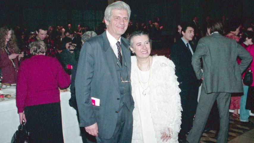 Laura Biagiotti und Ehemann Gianni 1995 in Russland