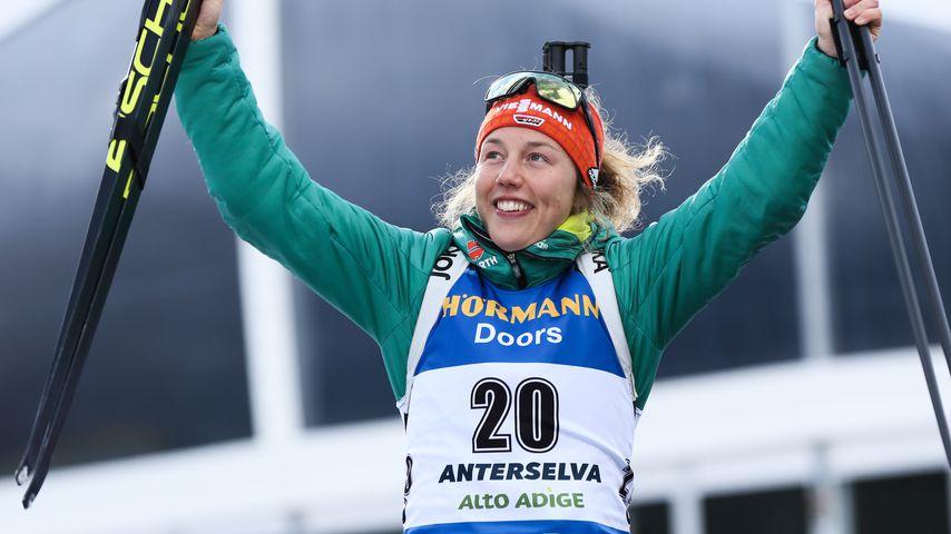 Letztes Rennen: Biathletin Laura Dahlmeier feiert Abschied