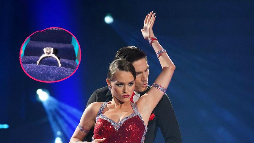 """Collage: Laura Müller und Christian Polanc bei """"Let's Dance"""", April 2020"""