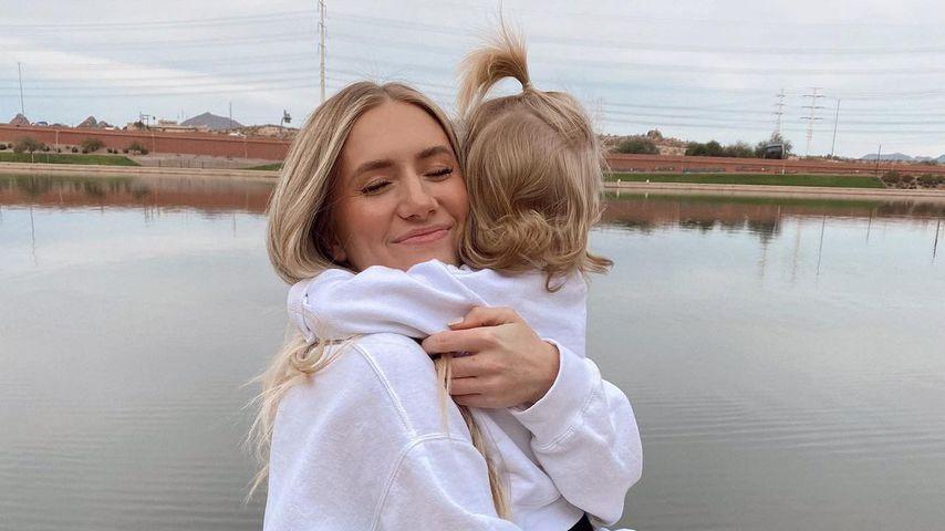 Lauren Burnham mit ihrer Tochter Alessi, 2020
