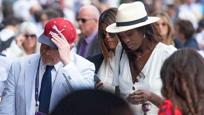 Boris Becker und Layla Powell in Wimbledon