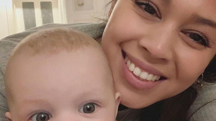 Lea mit ihrer Tochter Lilly, Dezember 2019