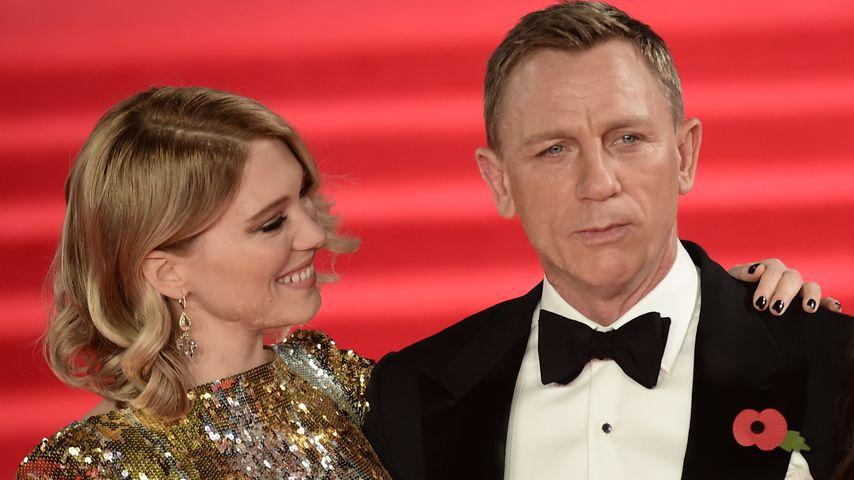 """Léa Seydoux und Daniel Craig bei der Weltpremiere von """"James Bond: Spectre"""" in London, Oktober 2015"""