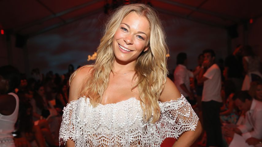 LeAnn Rimes auf der Mercedes-Benz-Fashion-Week in Miami, Florida