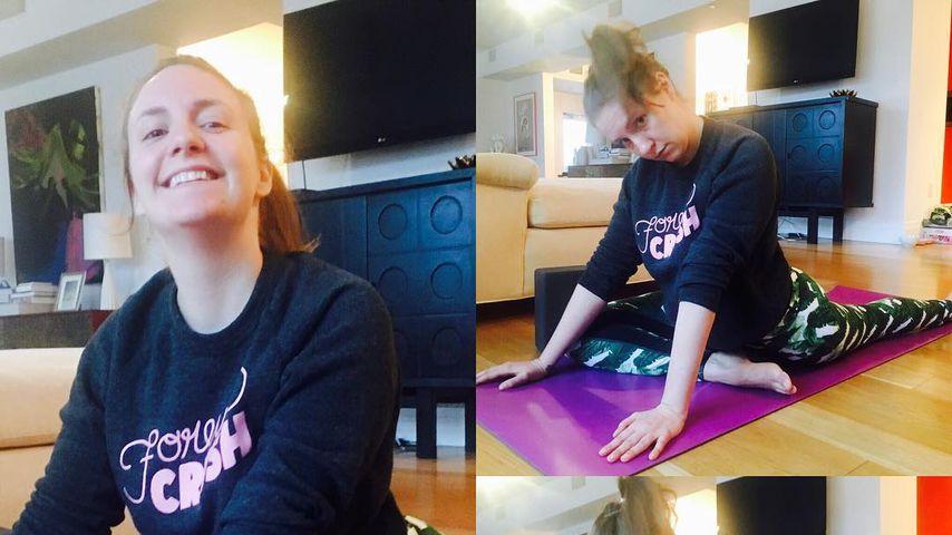 Lena Dunham beim Yoga