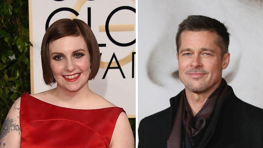 Fan-Girl-Knuddelei: Brad Pitt kam zu Lena Dunhams Geburtstag