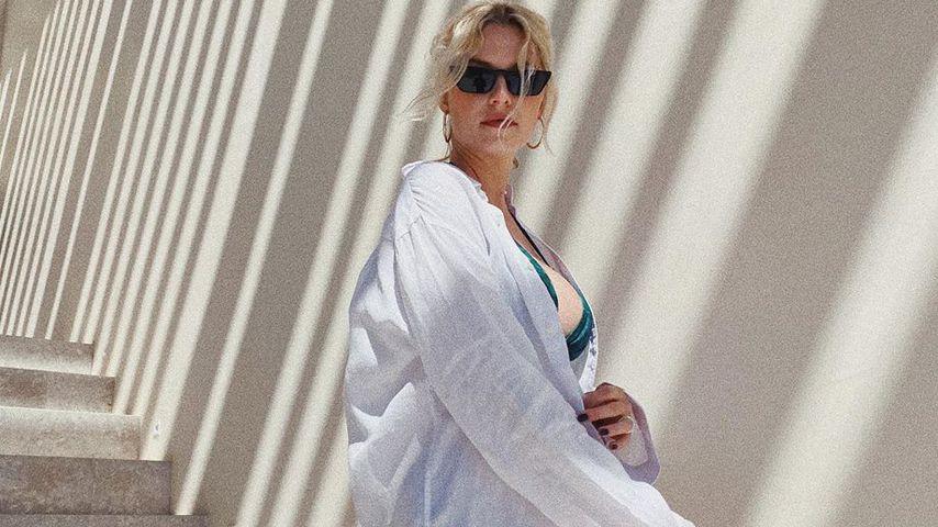 Lena Gercke versteckt Babybauch unter Dustins Hemd
