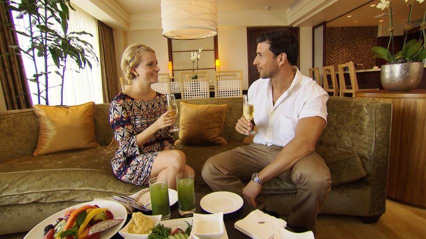 Perfektes Einzeldate: Bachelor Leo hin und weg von Leonie