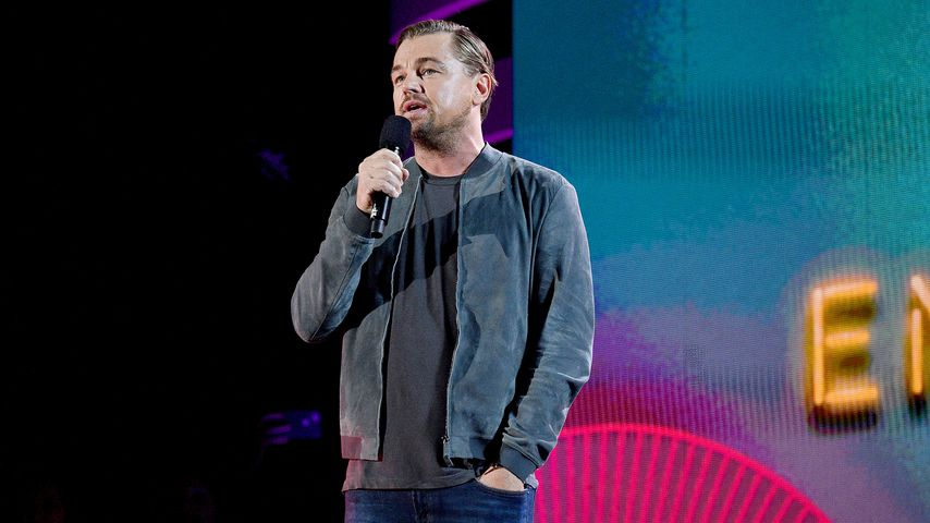 Leonardo DiCaprio auf der Bühne des Global Citizen Festival 2019 in New York City