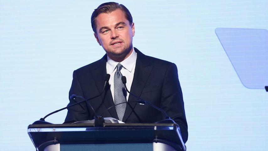 Leonardo DiCaprio hält bei einer Gala in der Jackson Park Ranch einen Vortrag