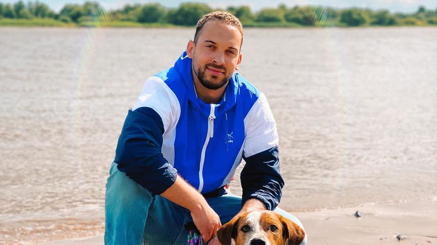 Leroy Leone mit seinem Hund