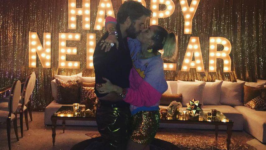 Liam Hemsworth und Miley Cyrus am Silvesterabend 2016