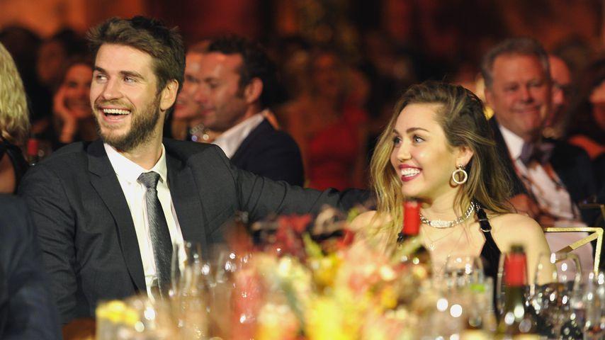 Liam Hemsworth und Miley Cyrus auf einem Event in Kalifornien