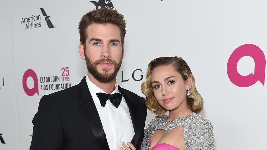 Schauspieler Liam Hemsworth und Miley Cyrus