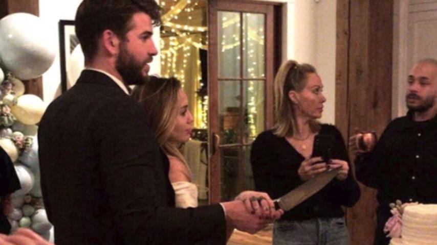 Liam Hemsworth und Miley Cyrus, Weihnachten 2018