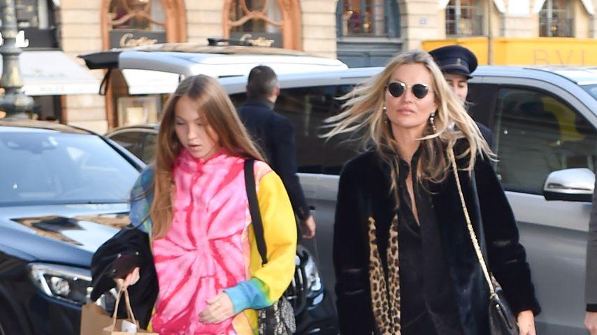 Lila Grace und Kate Moss in Paris, Januar 2020