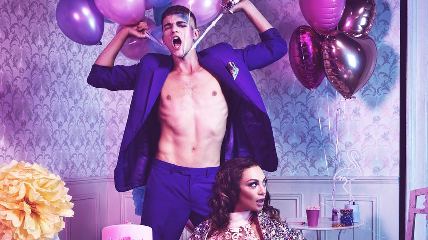 """Austria's Next Topmodel""-Kandiat Peter und Lilly Becker"
