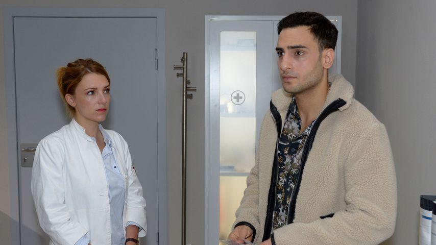 Lilly (Iris Mareike Steen) und Nihat (Timur Ülker) in einer GZSZ-Szene