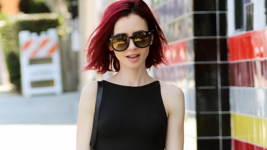 Lily Collins beim Shoppen in West Hollywood