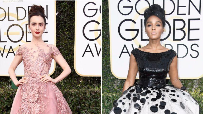 Lily Collins und Janelle Monáe bei den Golden Globes 2017