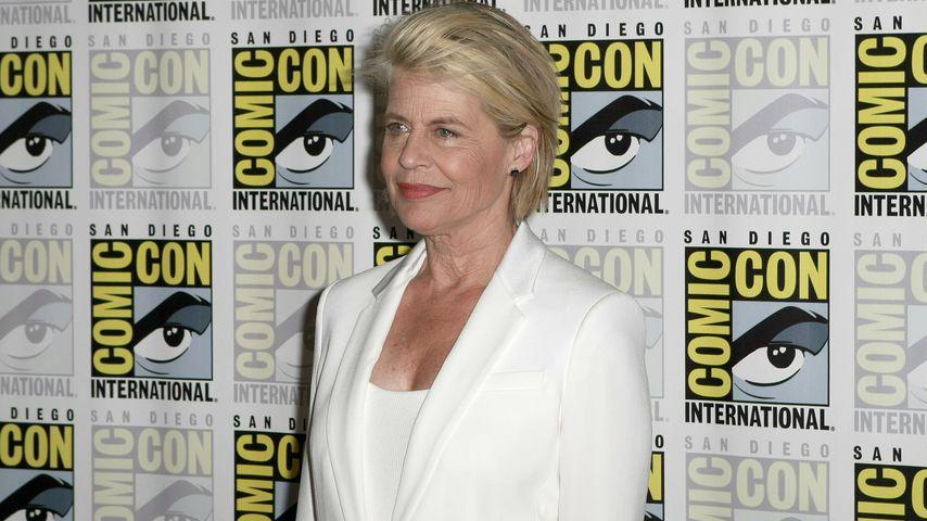 Linda Hamilton im Juli 2019