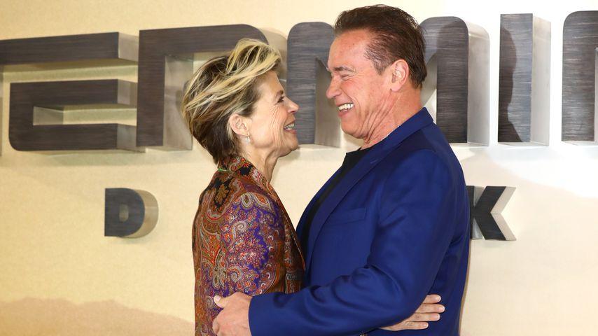 """Linda Hamilton und Arnold Schwarzenegger bei der Premiere von """"Terminator: Dark Fate"""""""