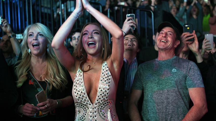 Lindsay Lohan, Michael Lohan und Dina Lohan