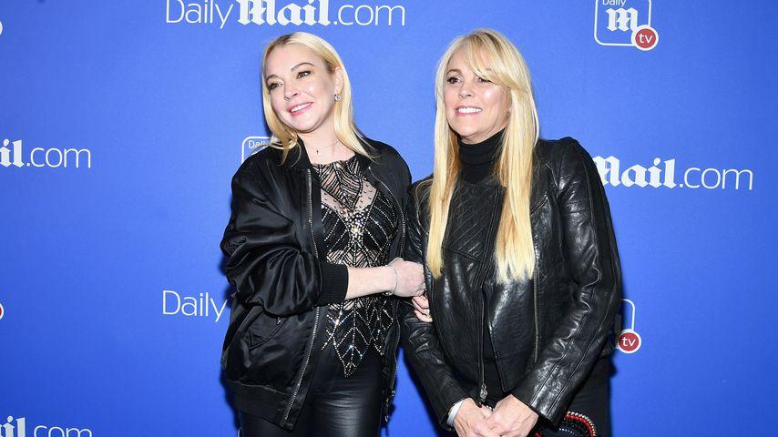 Lindsay und Dina Lohan bei der DailyMailTV Holiday Party im Dezember 2017