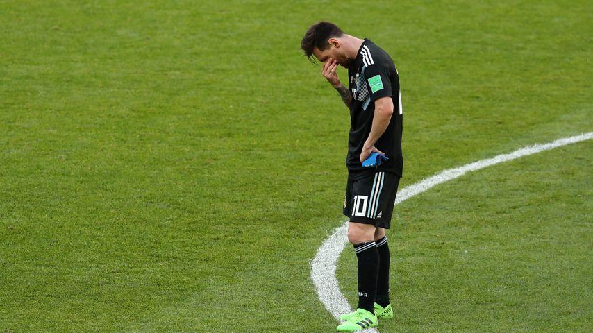 Lionel Messi nach dem Match Argentinien gegen Island, WM 2018