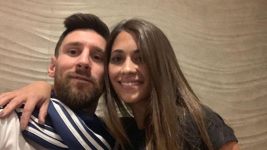 Fußballstar Lionel Messi und seine Frau Antonella Roccuzzo