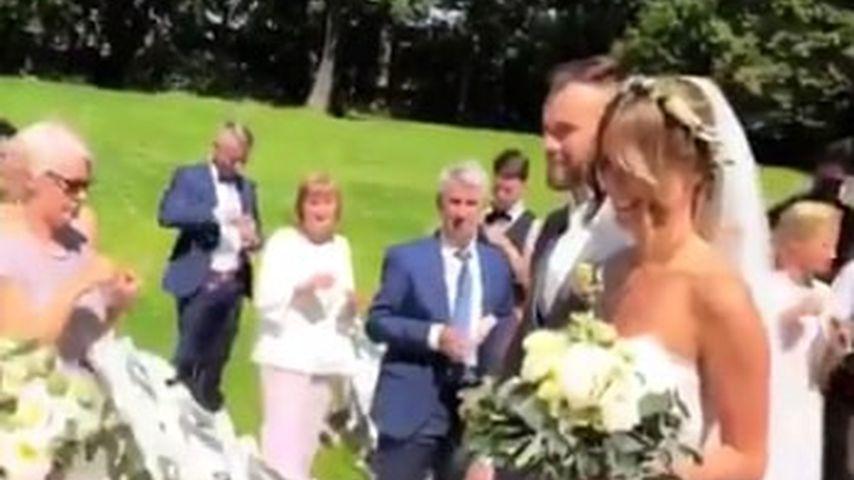 Liz Kaeber und Nick Maerker bei ihrer Hochzeit