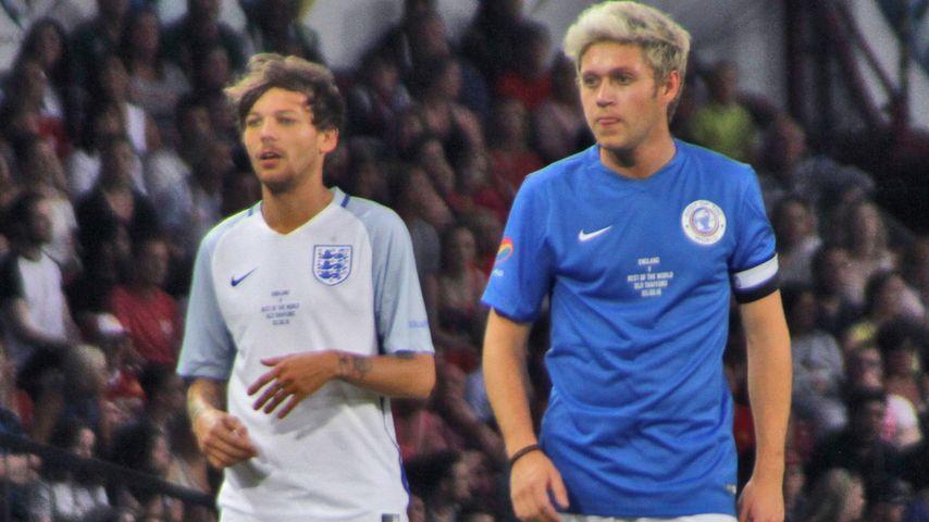 Louis und Niall: One-Direction-Reunion beim Fußball