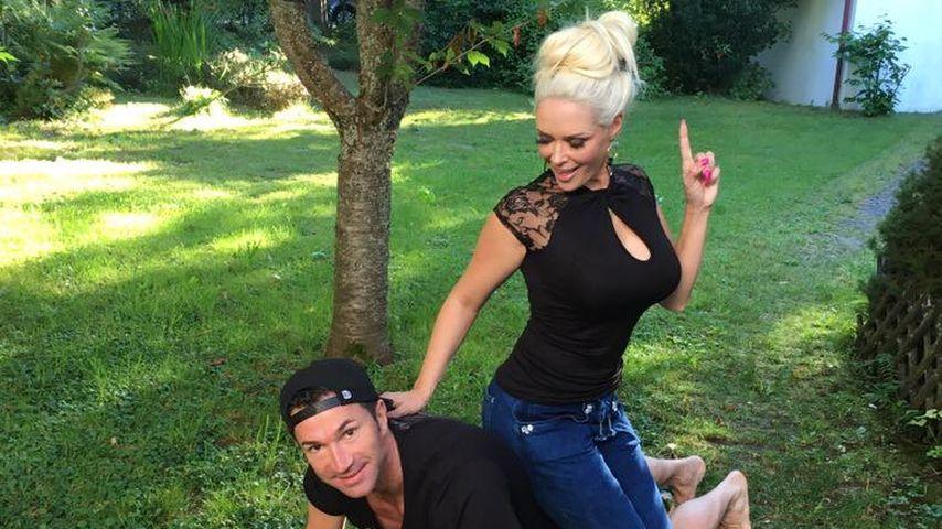 Lucas Cordalis beim Training mit Daniela Katzenberger