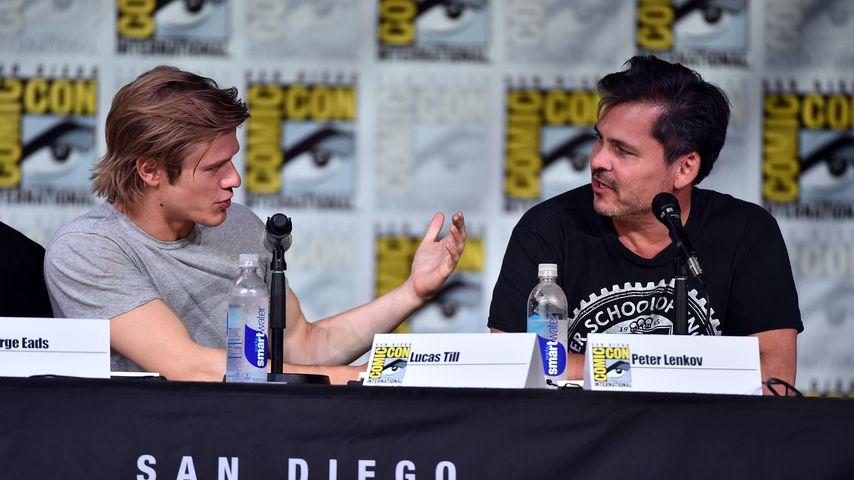 Lucas Till und Peter Lenkov bei der Comic-Con in San Diego, Juli 2016