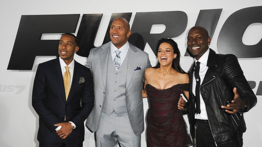 "Dwayne ""The Rock"" Johnson, Michelle Rodriguez, Ludacris und Tyrese Gibson"