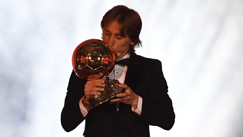 Luka Modrić mit dem Ballon d'Or