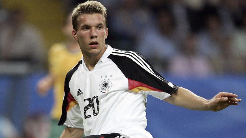 Lukas Podolski bei einem Spiel der Nationalmannschaft im Jahr 2005