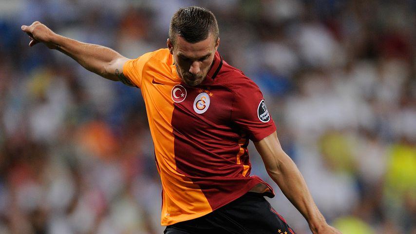 Lukas Podolski beim Spiel Galatasaray Istanbul gegen Real Madrid