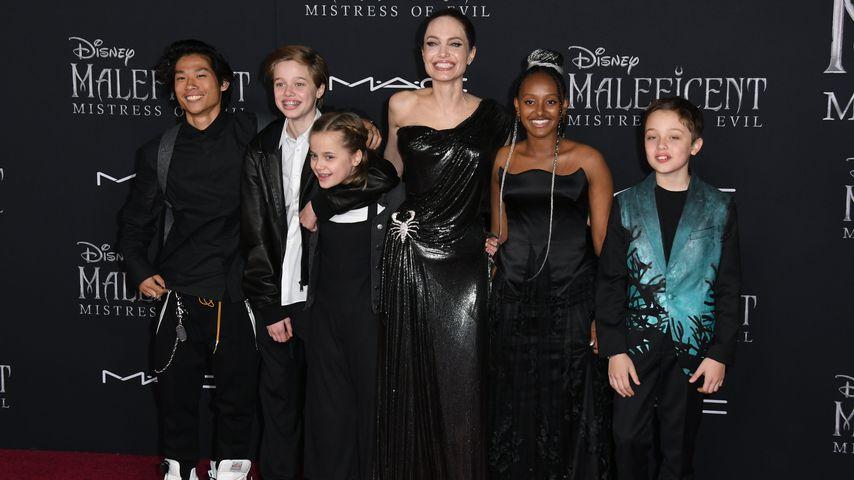 Angelina Jolie und ihre Kids Pax, Shiloh, Vivienne, Zahara und Knox