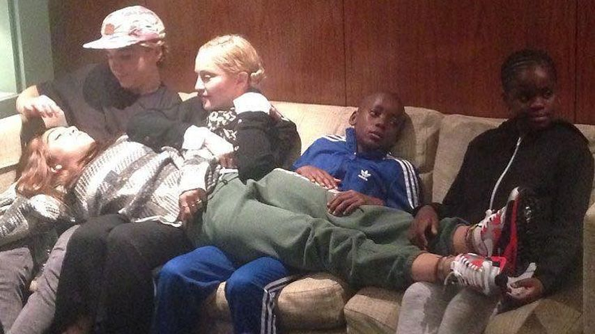 Madonna, Rocco Ritchie, Lourdes, David Banda Mwale und Mercy James