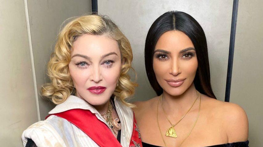 Madonna und Kim Kardashian, November 2019