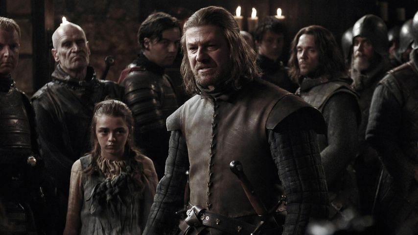 "Maisie Williams und Sean Bean in ""Game of Thrones"""