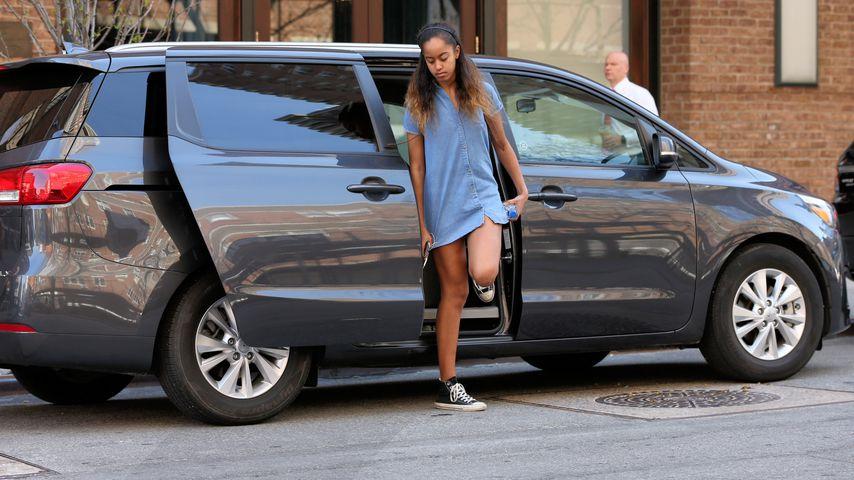 Malia Obama auf dem Weg zu ihrem Praktikum im April 2017